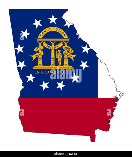 Georgia State Flag Cut Out Stock Images  Pictures  Alamy