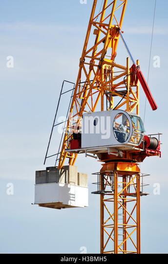 Tower Crane Rescue Procedure : Crane operator stock photos images