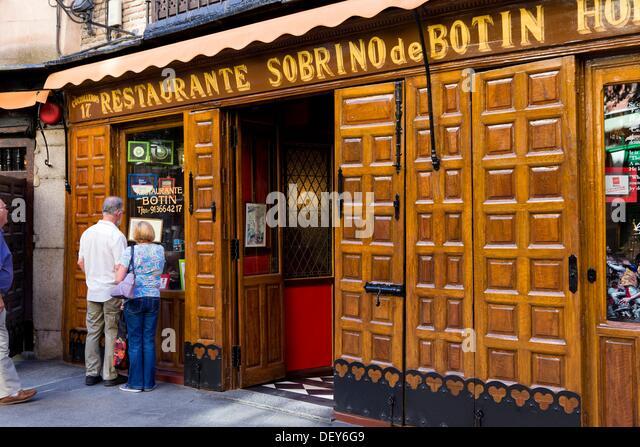 Botin restaurant madrid stock photos botin restaurant for Casa botin madrid