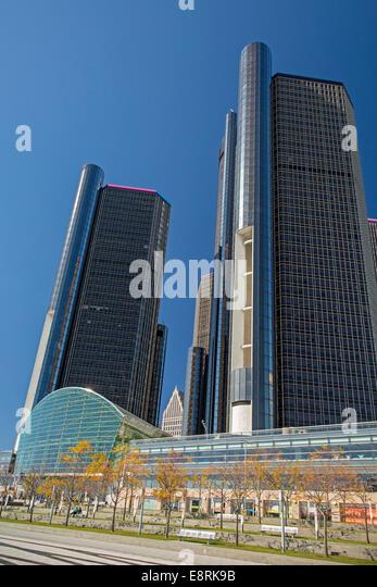 Detroit renaissance stock photos detroit renaissance for General motors corporate office