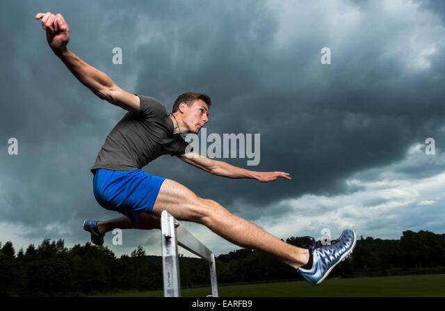 jumping hurdles In hurdles, not only do you have to run fast but you have to jump and land quickly, minimizing the amount of time you're in the air if you do it right, it doesn't look like you're jumping — it looks like you're just lifting your legs.