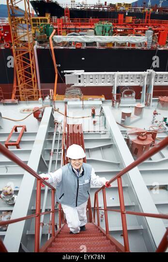 Goseong-gun South Korea  city pictures gallery : ... shipping port, elevated view, GoSeong gun, South Korea Stock Image