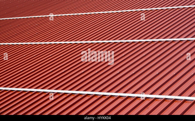 Metal sheet roofing stock photos metal sheet roofing for Modern roofing materials