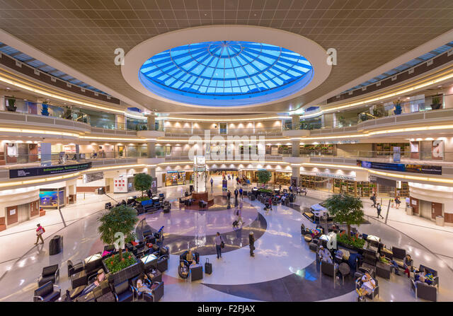 the main hall inside hartsfield jackson atlanta international airport stock image
