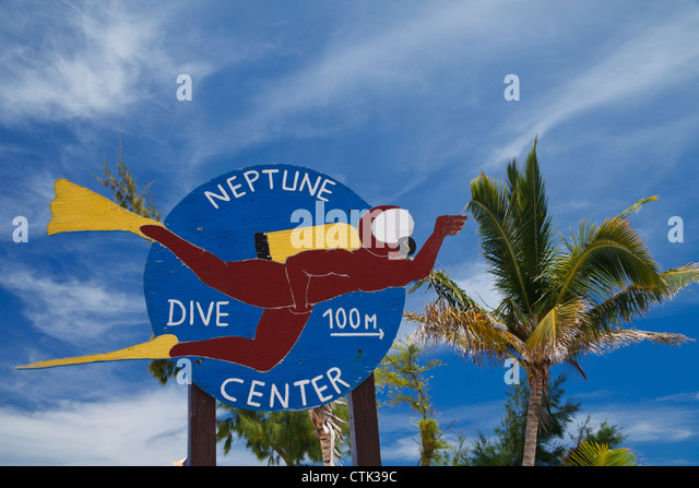 Sign For Neptune Dive Center At Orient Beach In St Martin