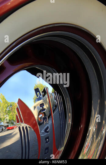 chevrolet hub cap at fairfax california car show stock image