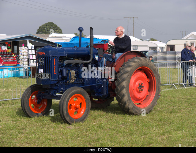 1957 Fordson Major Diesel Tractor : Vintage fordson major tractor stock photos