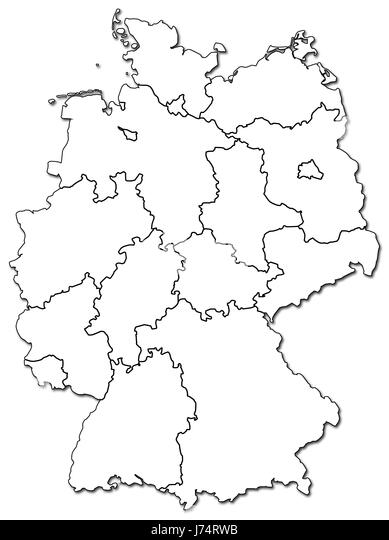Germany Map Black And White Stock Photos Images Alamy - Germany map drawing