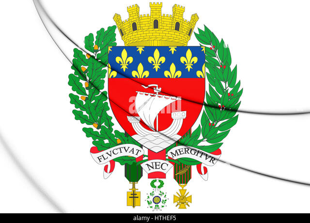 coat of arms of city of paris stock photos & coat of arms of city