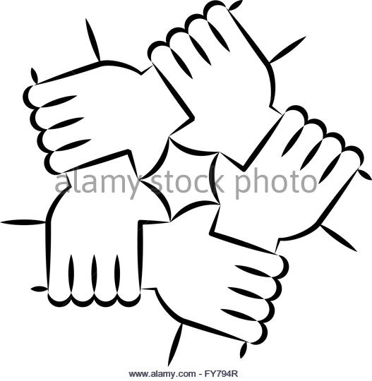 Line Drawing Unity : Indian hands black and white stock photos images alamy