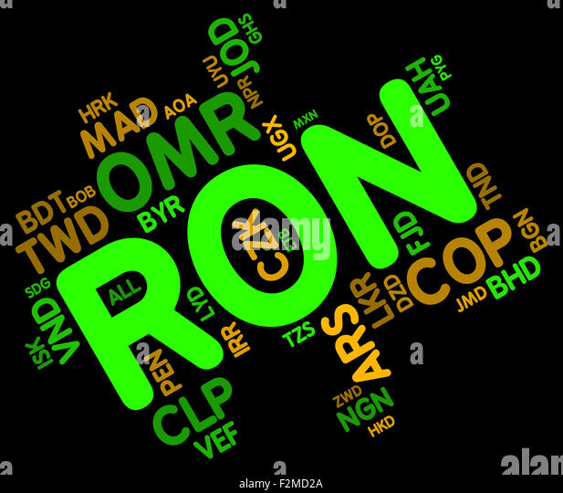 Ron Currency Meaning Romanian Leus Stock Photos Ron Currency