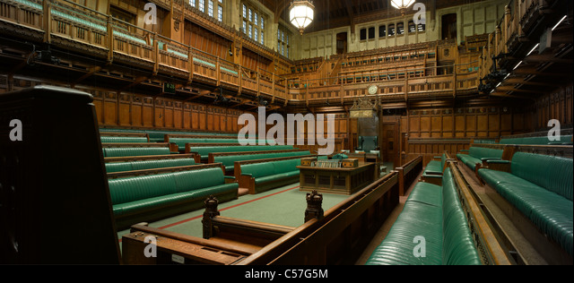 Houses Of Parliament Interior. House of Commons  Houses Parliament London Interior view Chamber Of Stock Photos