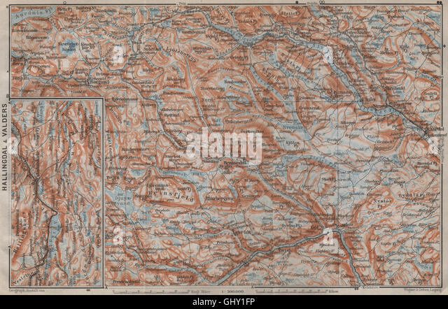 Aurdal Stock Photos Aurdal Stock Images Alamy - Norway valdres map