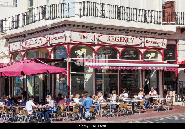 alfresco restaurant brighton seafront stock photos. Black Bedroom Furniture Sets. Home Design Ideas