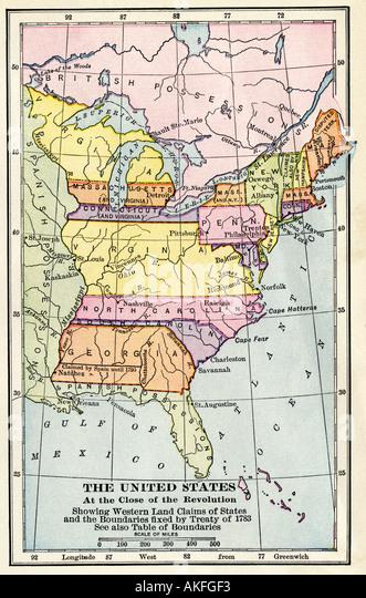 Usa Map Stock Photos Usa Map Stock Images Alamy - Us map 1783