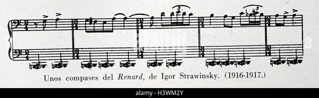 sheet music for renard by igor stravinsky 1882 1971 a russian composer