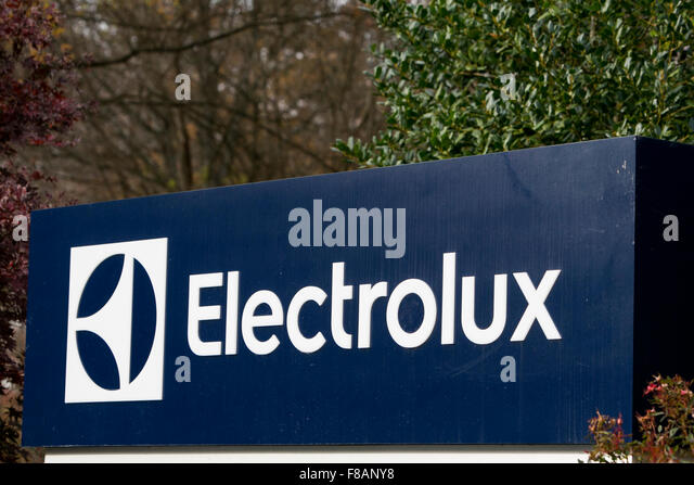 a logo sign outside of a facility occupied by electrolux in charlotte north carolina on