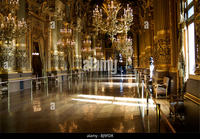 The Grand Foyer Palais Garnier : Palais garnier stock photos images