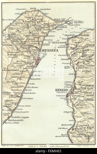 Map Of Messina Stock Photos Map Of Messina Stock Images Alamy