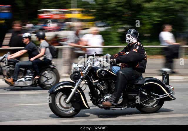 man ride harley davidson motorcycle stock photos man. Black Bedroom Furniture Sets. Home Design Ideas