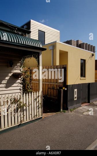 Melbourne suburban house australia stock photos for Cottage style homes melbourne