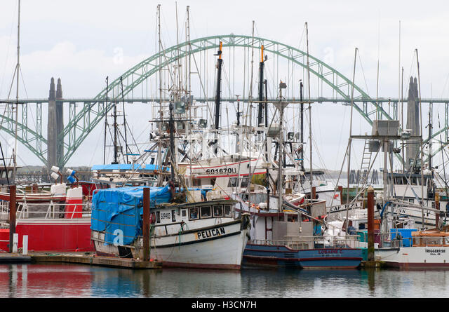 Yaquina bay bridge stock photos yaquina bay bridge stock for Newport oregon fishing