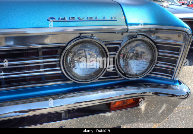 Vintage Automobile Front Center With One Headlight : Car grill stock photos images alamy