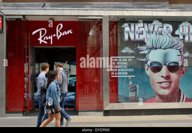 ray ban glasses store  ray ban sunglasses store in long acre. stock image