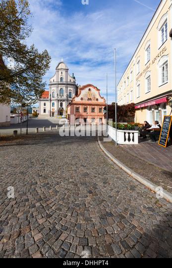 Germany Upper Bavaria Altotting Basilica Stock Photos