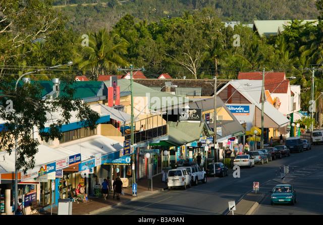 Australia Queensland Whitsunday Coast Airlie Beach Shute Harbour Road Stock Image