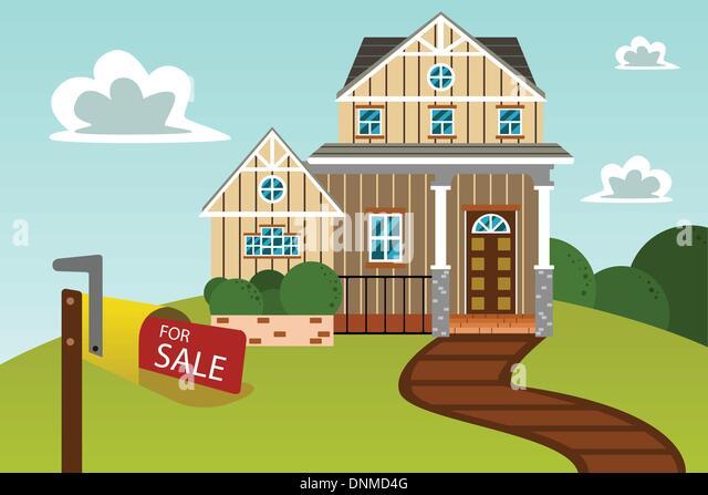 Cartoon House For Sale Stock Photos Cartoon House For Sale Stock - Big cartoon house