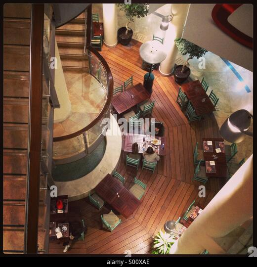 Top View For A Cafe In Mall
