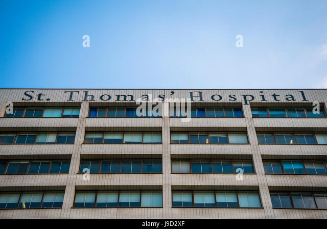 St. Thomas Hospital, Hospital, Facade, London, England, United Kingdom - Stock Image