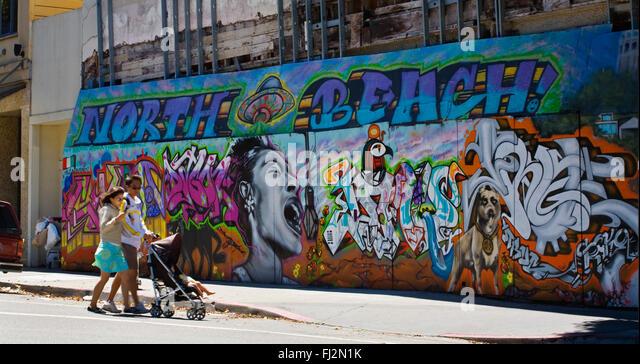 Walk ways stock photos walk ways stock images alamy for California mural