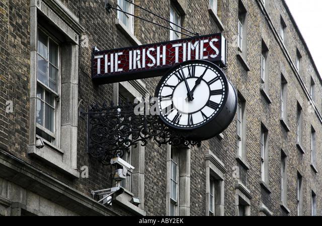 Irish times stock photos irish times stock images alamy - Irish times office dublin ...