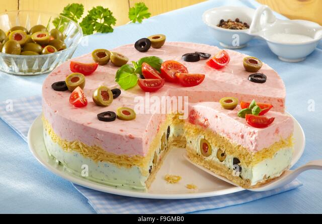 Savoury Cheese Cake Step By Step Stock Image