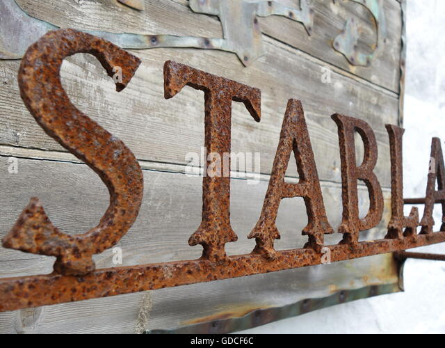 rustic lettering stock image