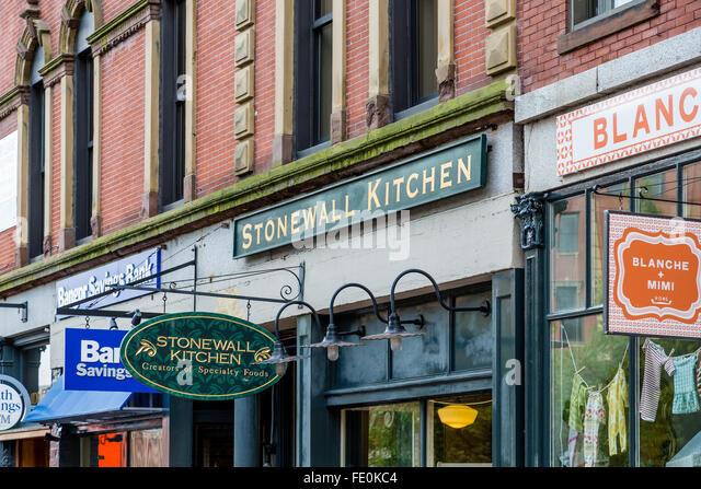 Stonewall Kitchen Store On Portland, Maine Street   Stock Image