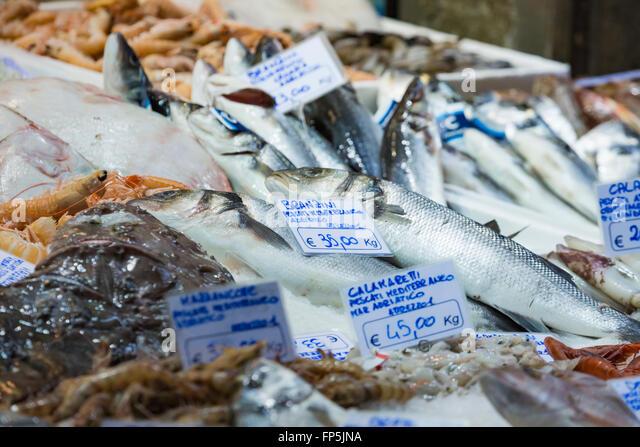 Bologna Fresh Fish Market Italy Stock Photos & Bologna ...