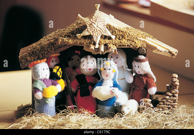 Knitting Pattern Christmas Crib Nativity Scene Booklet : Knitted Nativity Nativity Stock Photos & Knitted Nativity Nativity Stock ...