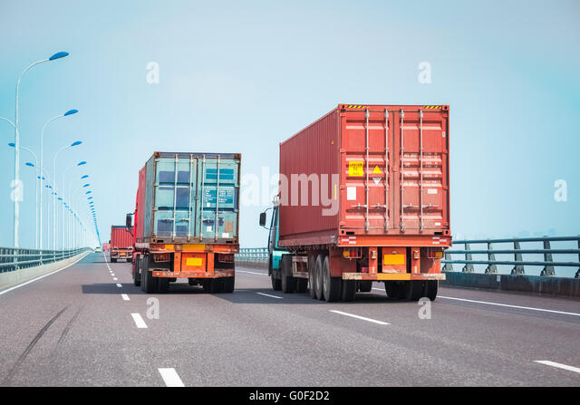 Commercial Truck Highway Stock Photos & Commercial Truck ...