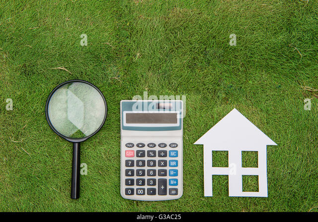 Buy House Mortgage Calculations Calculator Stock Photos