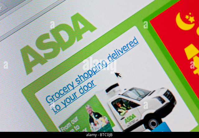 Detail Of Screenshot From Website Of Asda Home Shopping And Delivery Service Stock Image