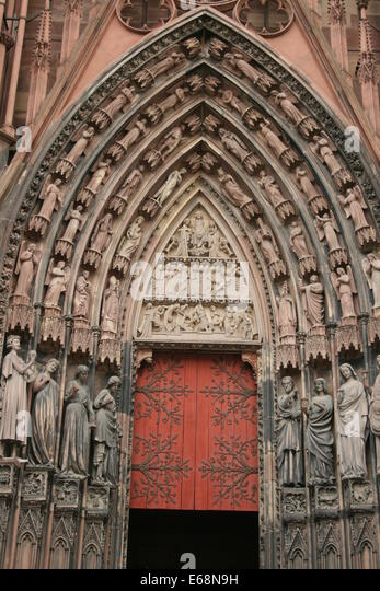 Death of the virgin on strasbourg cathedral