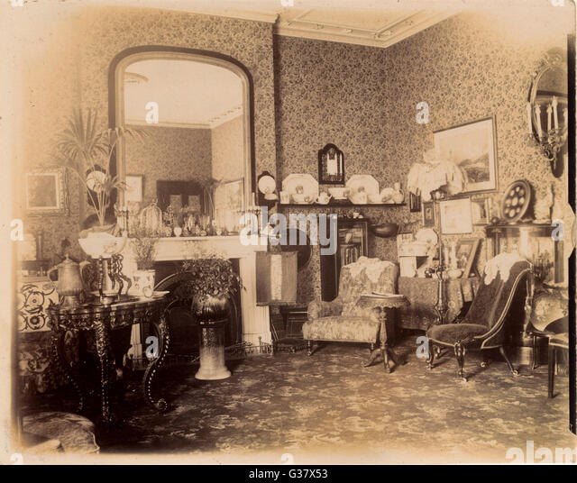 Victorian Sitting Rooms: Domestic Victorian Stock Photos & Domestic Victorian Stock