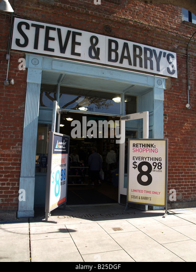 Steve and barry clothing store