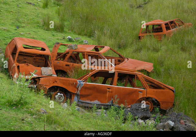 Scrap car uk stock photos scrap car uk stock images alamy for How to tell if garbage disposal motor is burned out