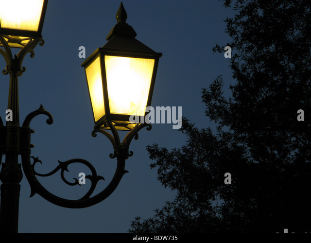 Lamp Post Wrought Iron Fence Stock Photos Amp Lamp Post