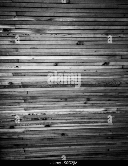 Wood paneling in black and white - Stock Image - Wood Panel Ceiling Stock Photos & Wood Panel Ceiling Stock Images
