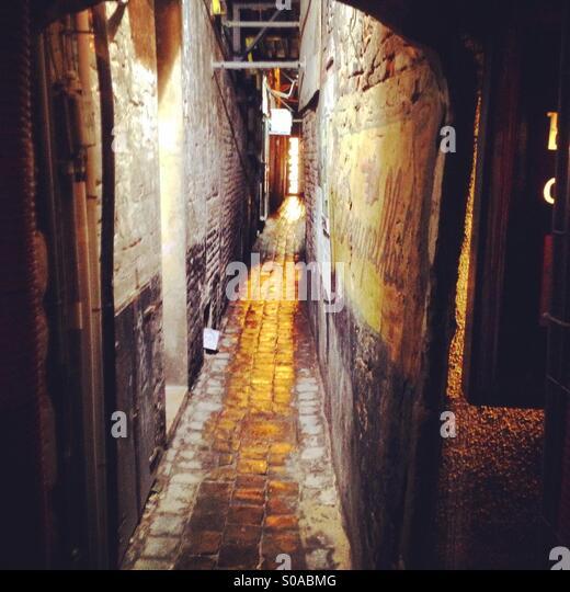 Narrow Alley Light Stock Photos & Narrow Alley Light Stock